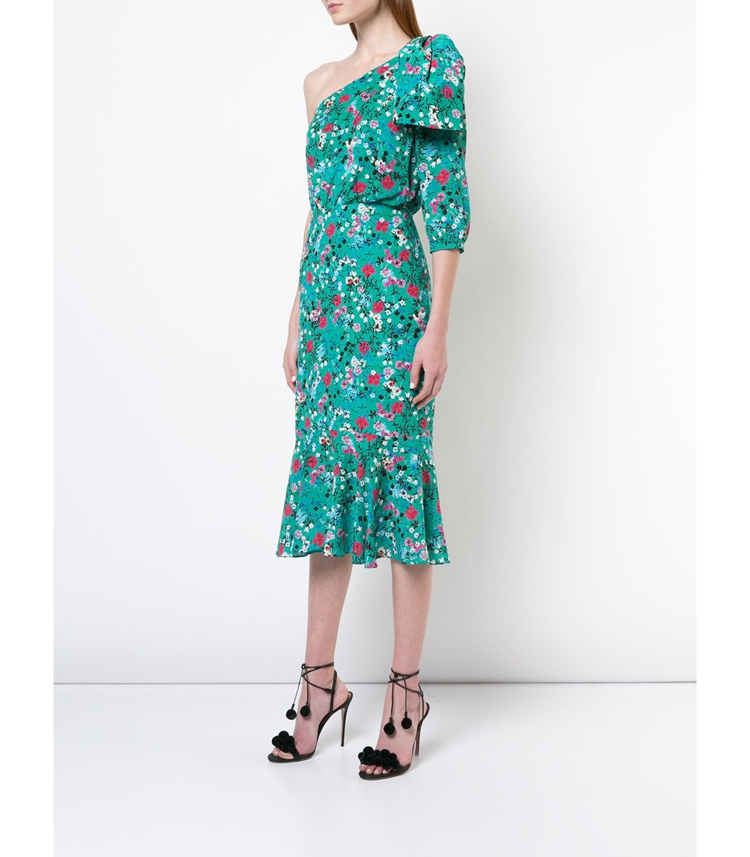 Juliet floral dress - Green Saloni For Cheap Cheap Sale Collections mQhyD76Fm