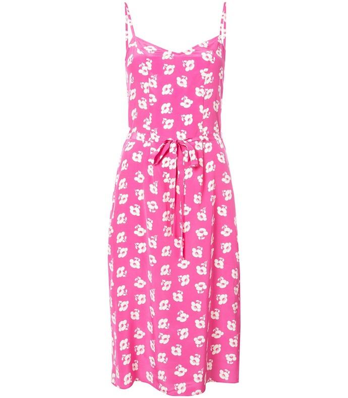 pink lily poppy slip dress