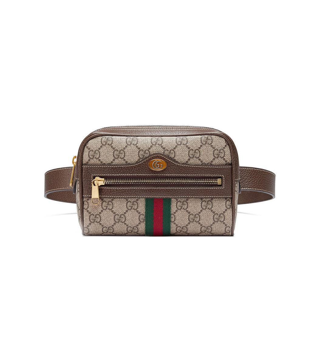 8e4e8742c4f2 Gucci Multicolor Ophidia Gg Supreme Small Belt Bag In 8745 Brown ...