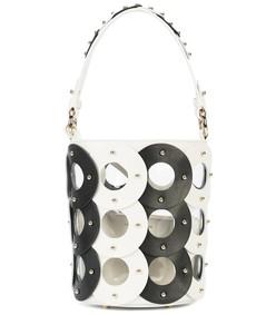 zoe circle bucket bag - monochrome