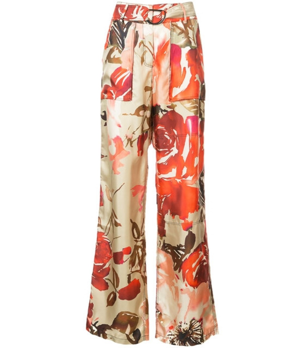 BY. BONNIE YOUNG Multicolor High Rise Rose Print Trousers