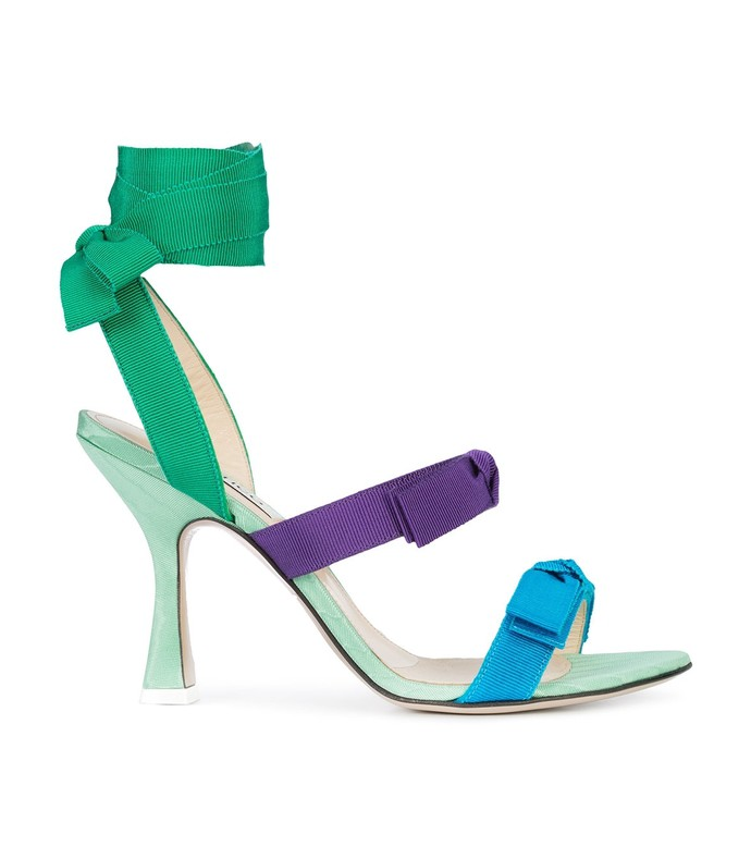bow strap heel sandals