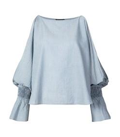 blue devon blouse