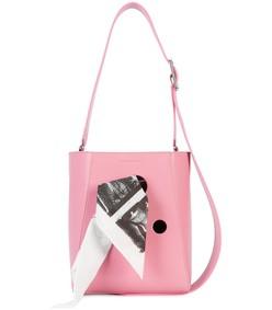 pink bandana bucket bag