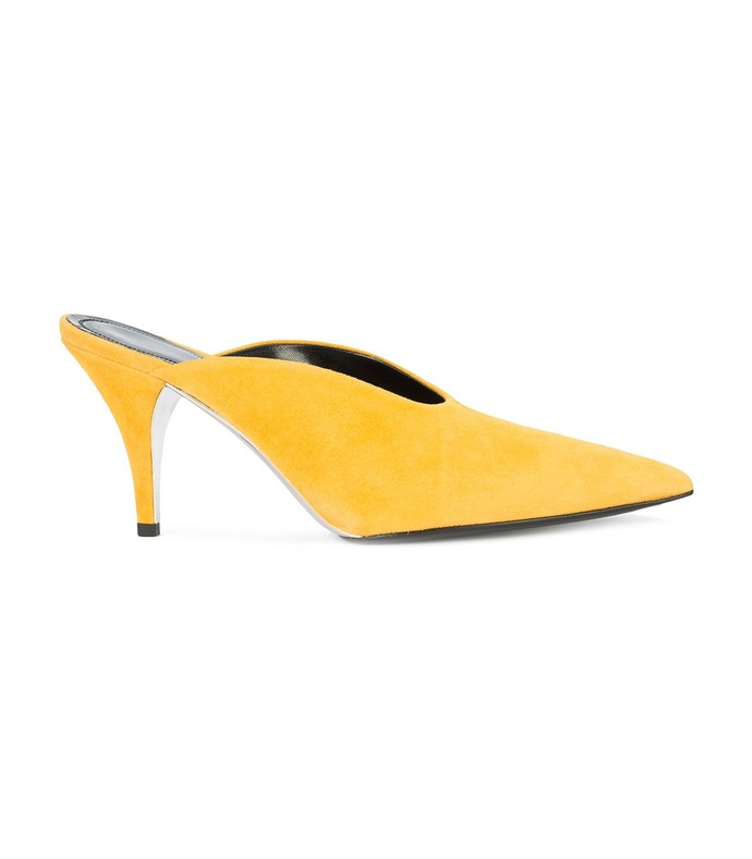 yellow roslynn suede mules