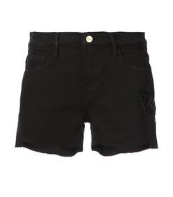 le cut off noir shorts