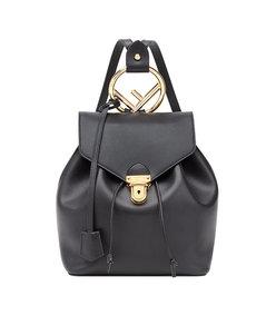 black classic logo backpack