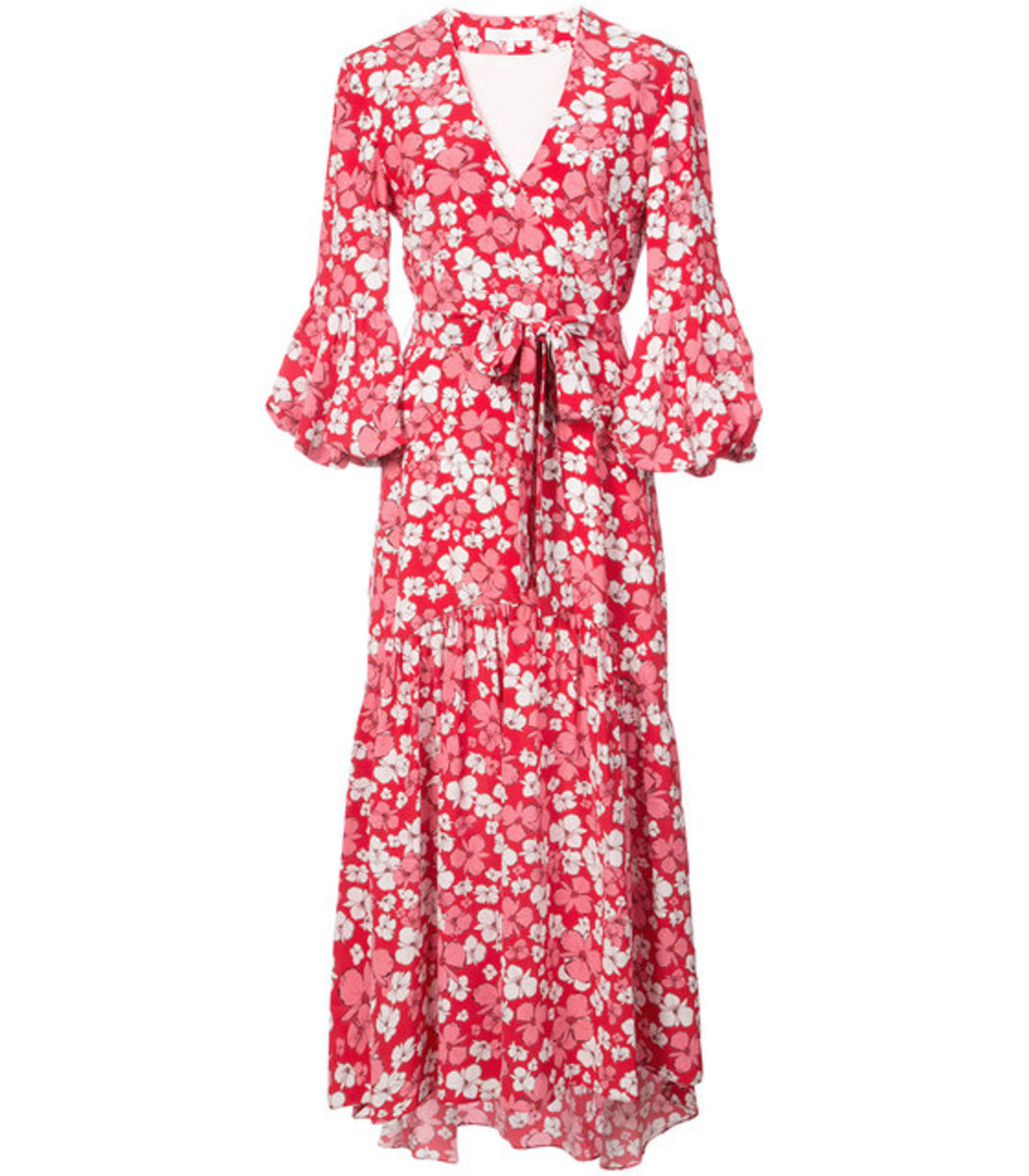 floral print asymmetric dress - Pink & Purple Borgo De Nor 61Yhpbl5a4