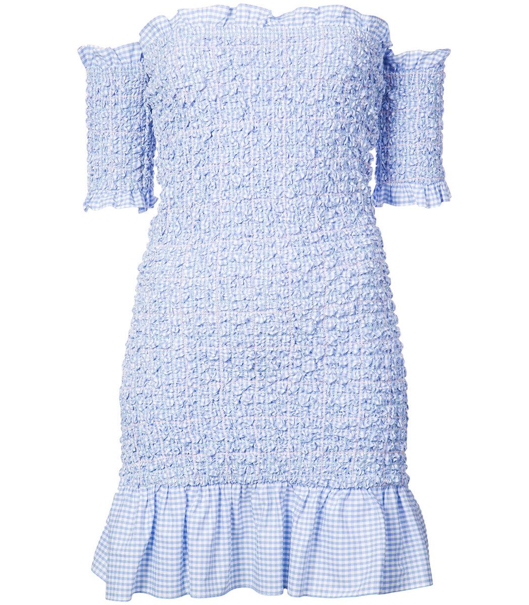 Petersyn Blue Off-Shoulder Dress