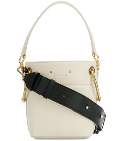 white mini roy bucket bag