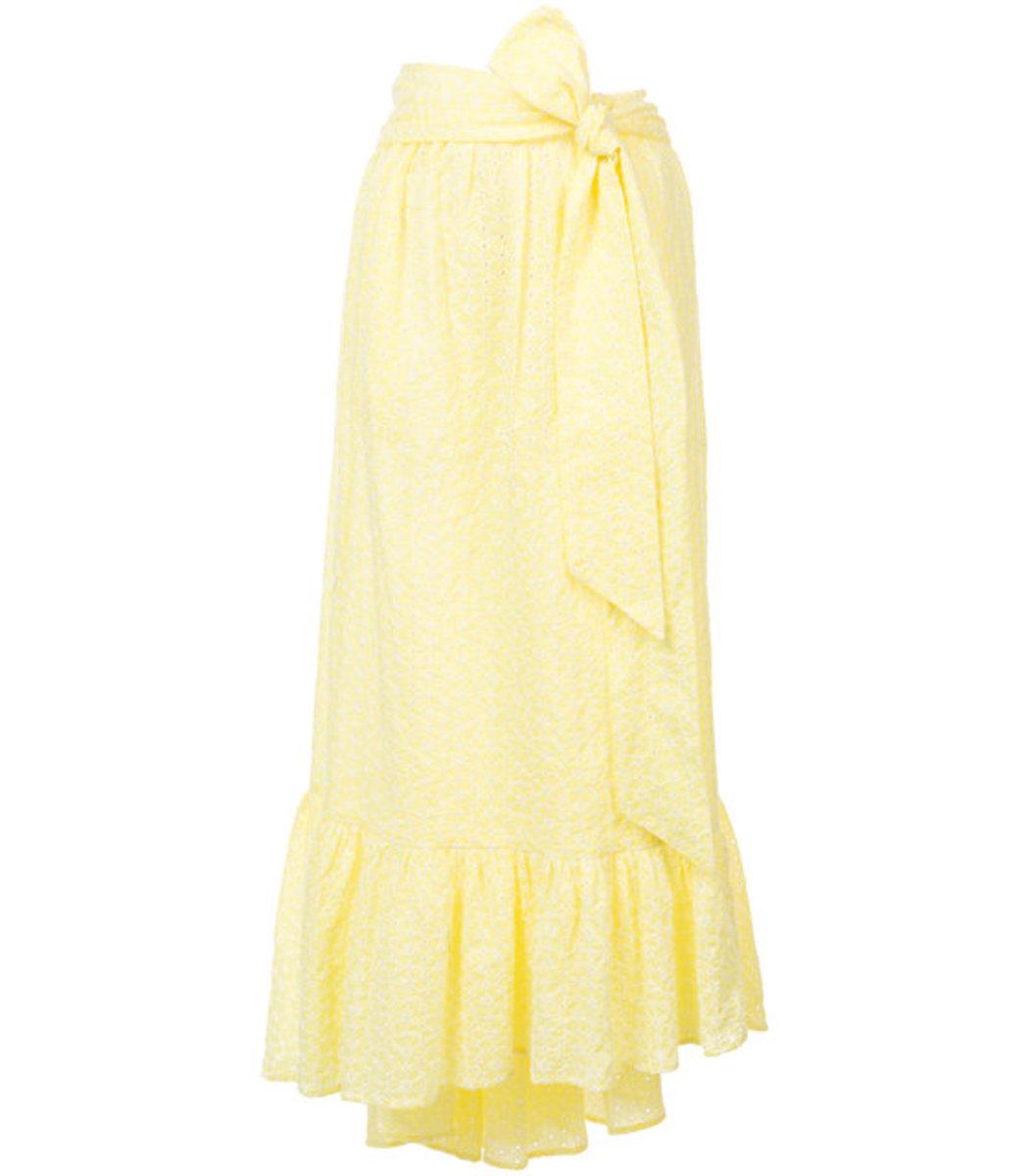 Nicole Eyelet Midi Skirt, Yellow
