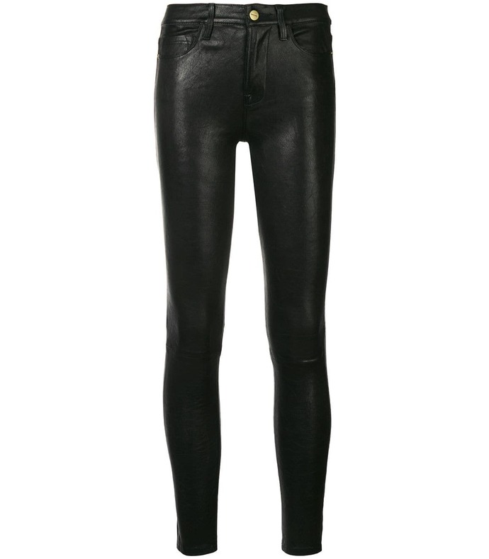 le high skinny cropped leather pants