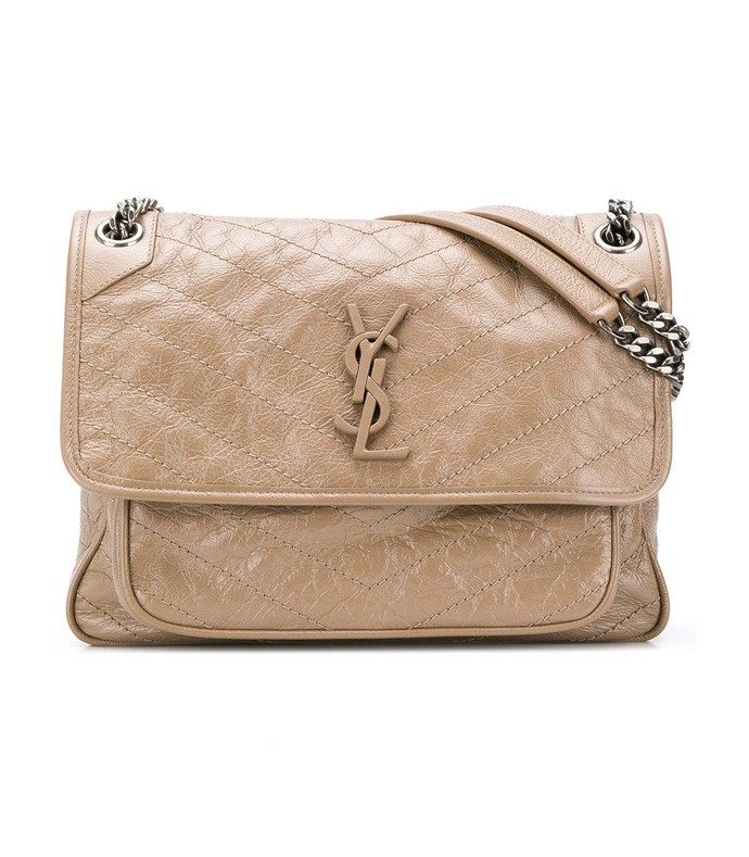 beige niki monogram shoulder bag