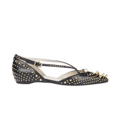 black 'unia' studded ballerinas