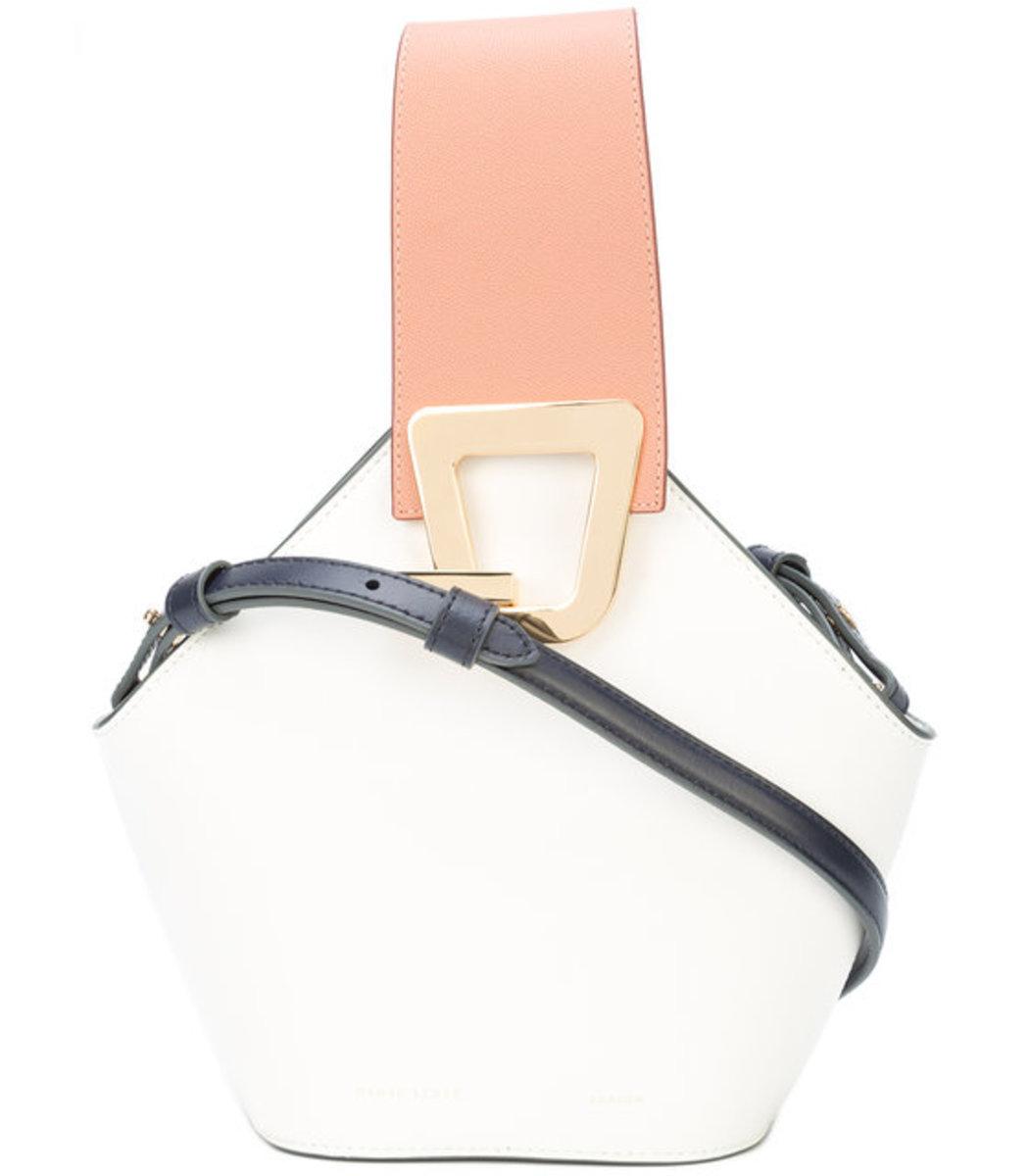 Pink and White Mini Johnny Shoulder Bag