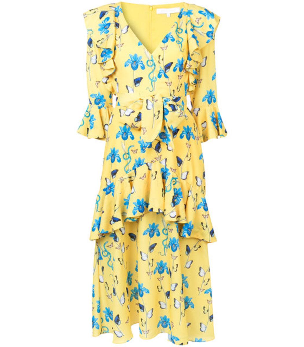 Borgo De Nor Ruffled Floral Print Dress