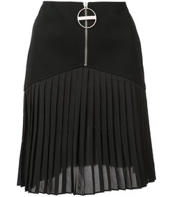 black zipper front skirt