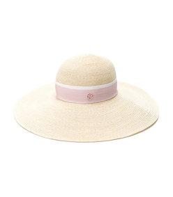 natural pink logo plaque hat