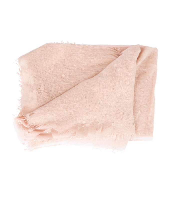 cashmere pearl detail shawl