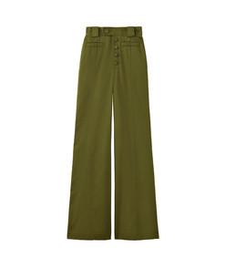twill high waisted pants
