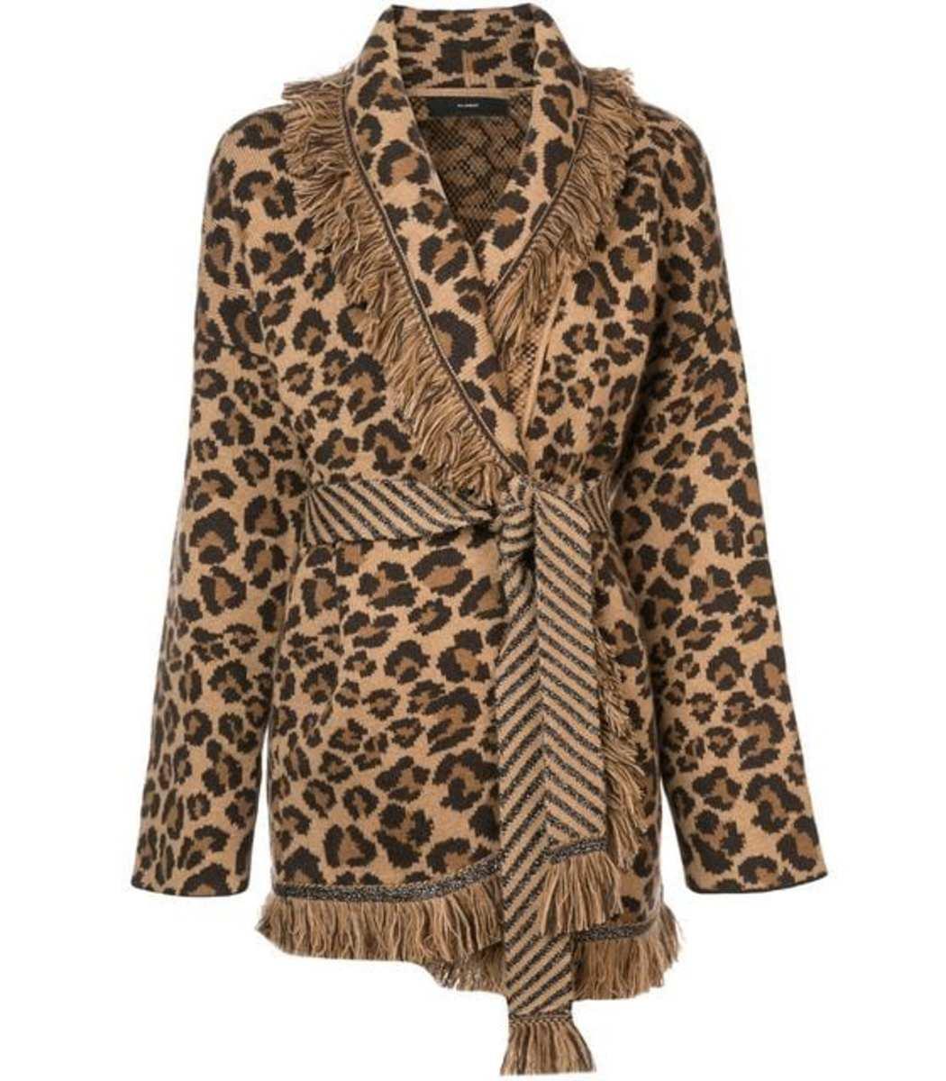 Alanui Leopard Intarsia Cardi-Coat