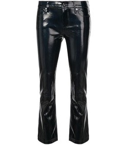 navy kiki leather pants