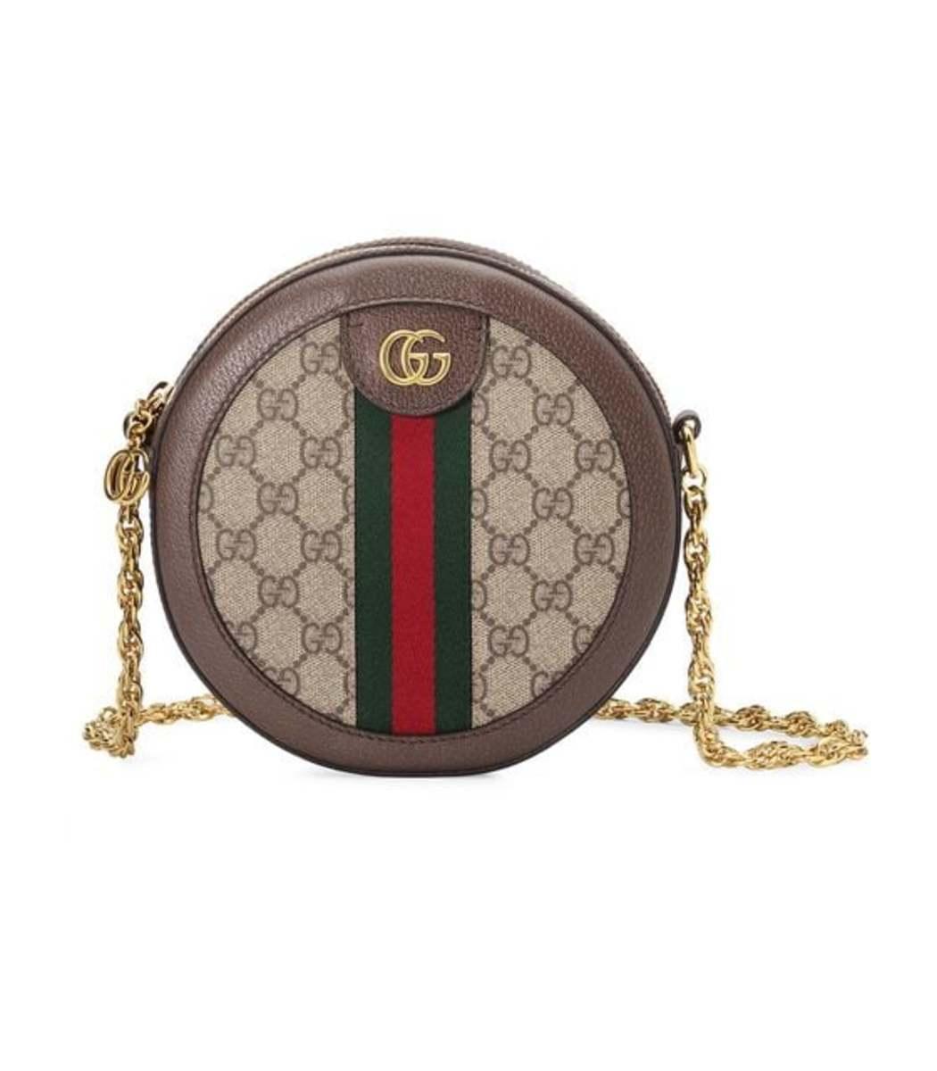 e92e418e2da Gucci Ophidia Round Mini GG Canvas Shoulder Bag - ShopBAZAAR