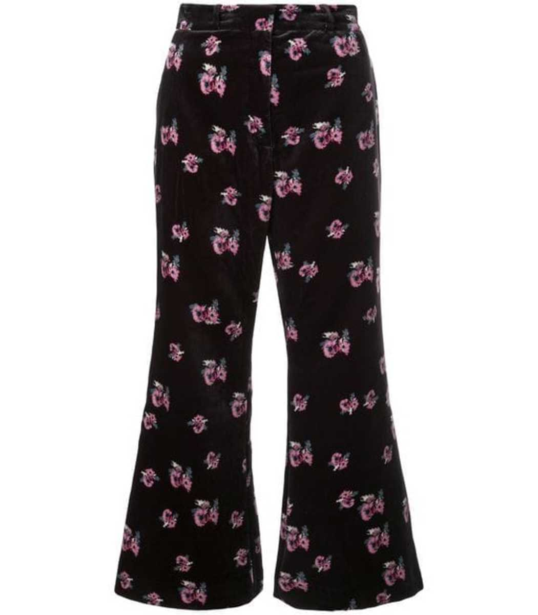 Racil Black Floral Print Trousers