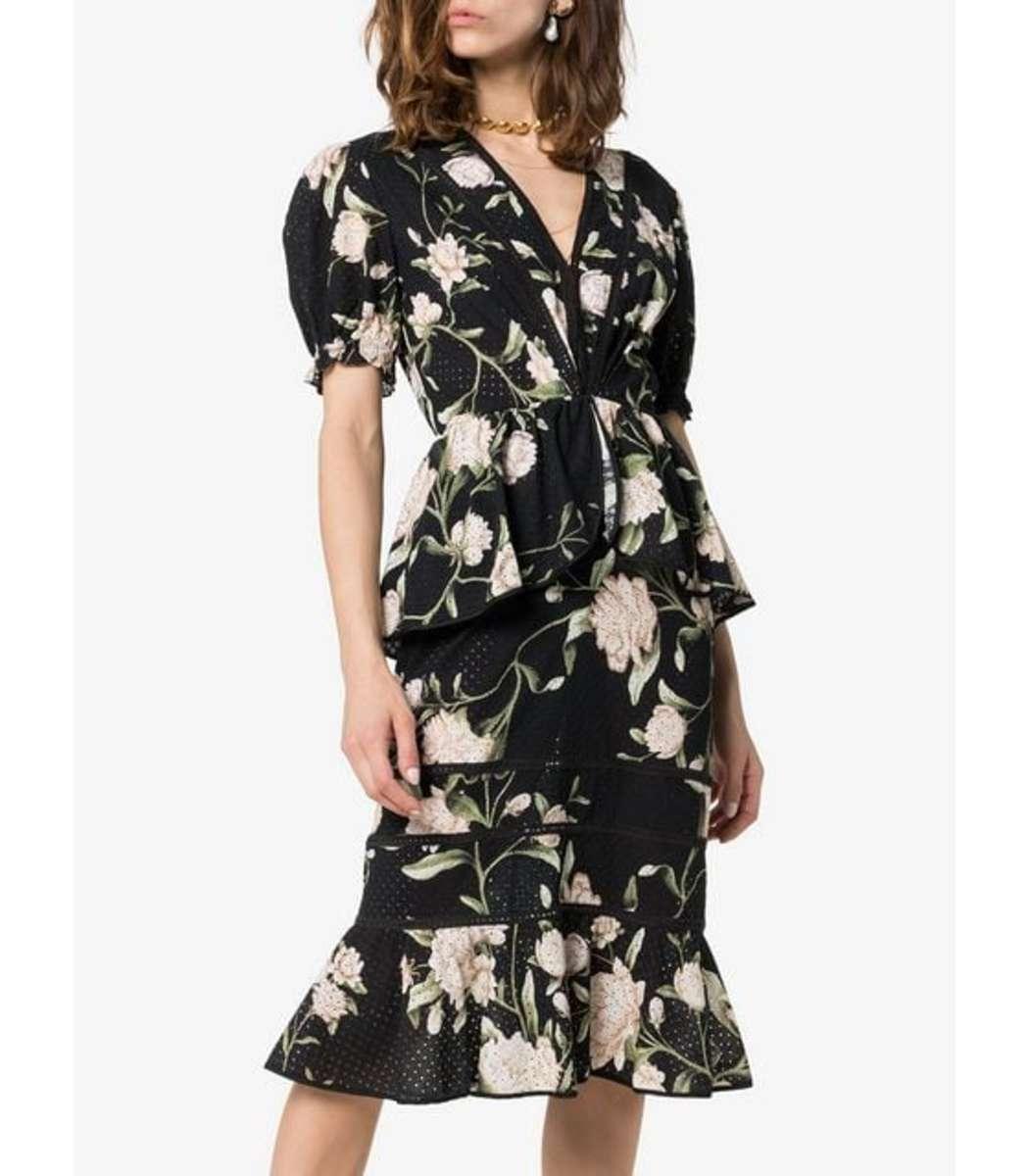 f6d0dc36139 Home   Johanna Ortiz   Oriental State Floral Dress. prev