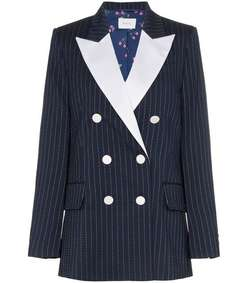 casablanca double breasted pinstriped jacket