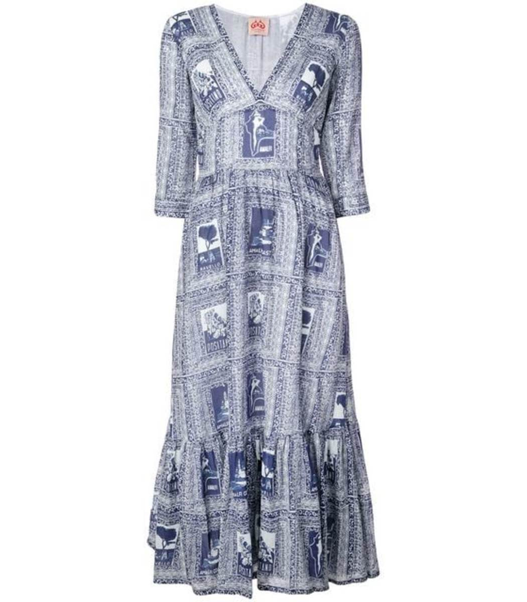 Le Sirenuse Italy Print Full Dress