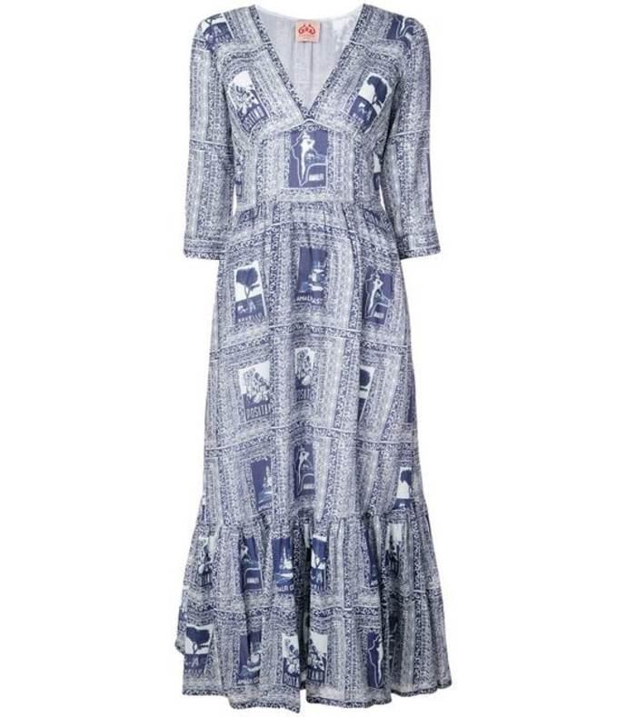 italy print full dress
