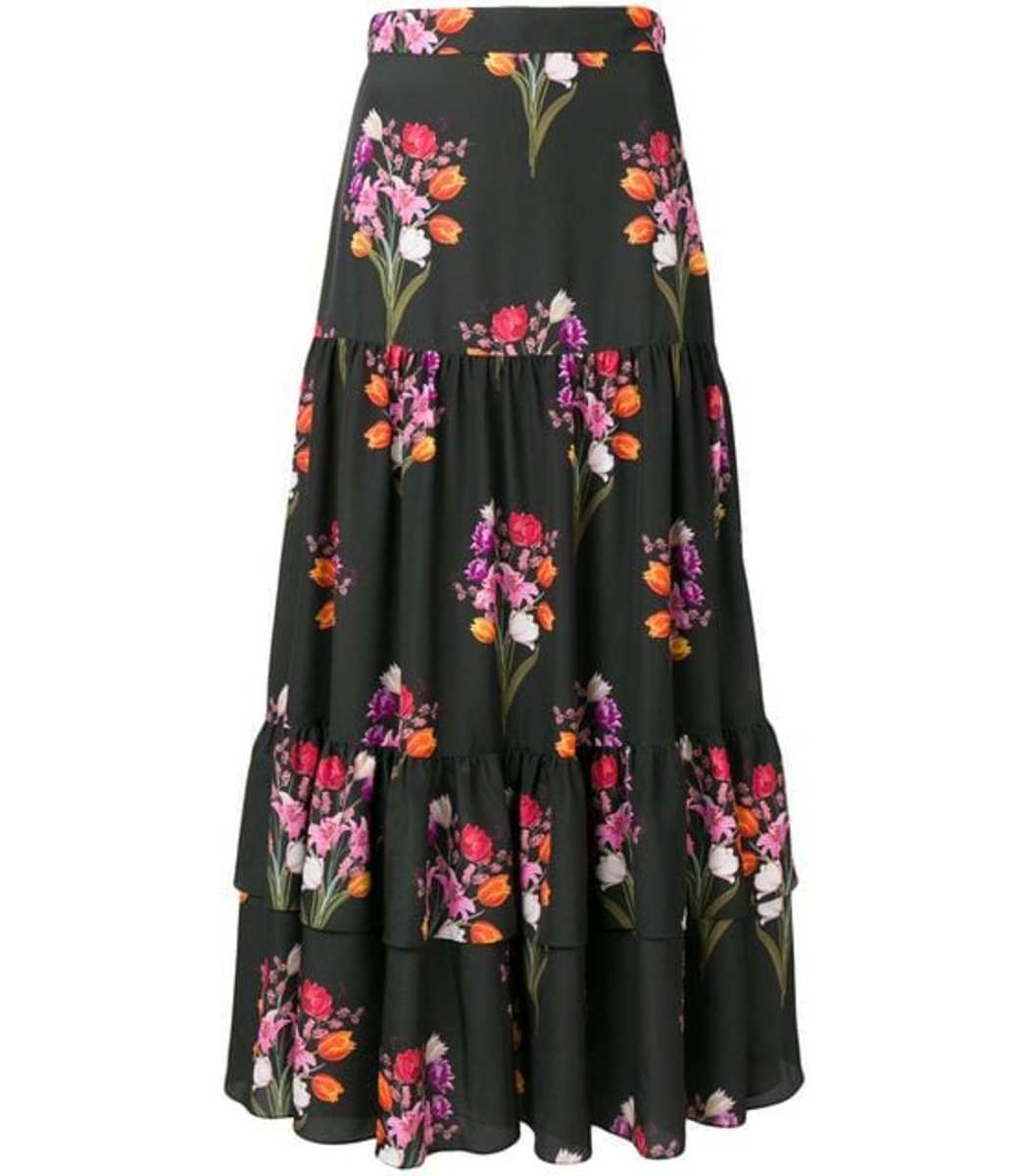 Borgo De Nor Emme Floral Print Skirt