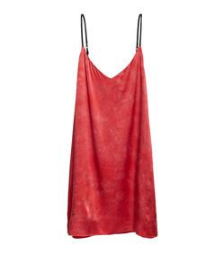 red slip mini dress