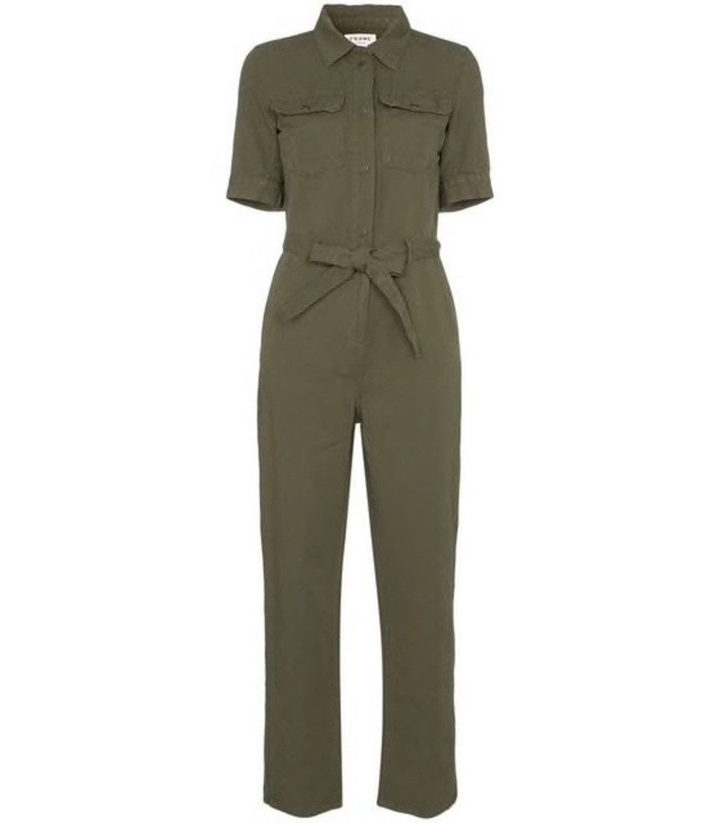 Frame Suits Belted Front Button Jumpsuit
