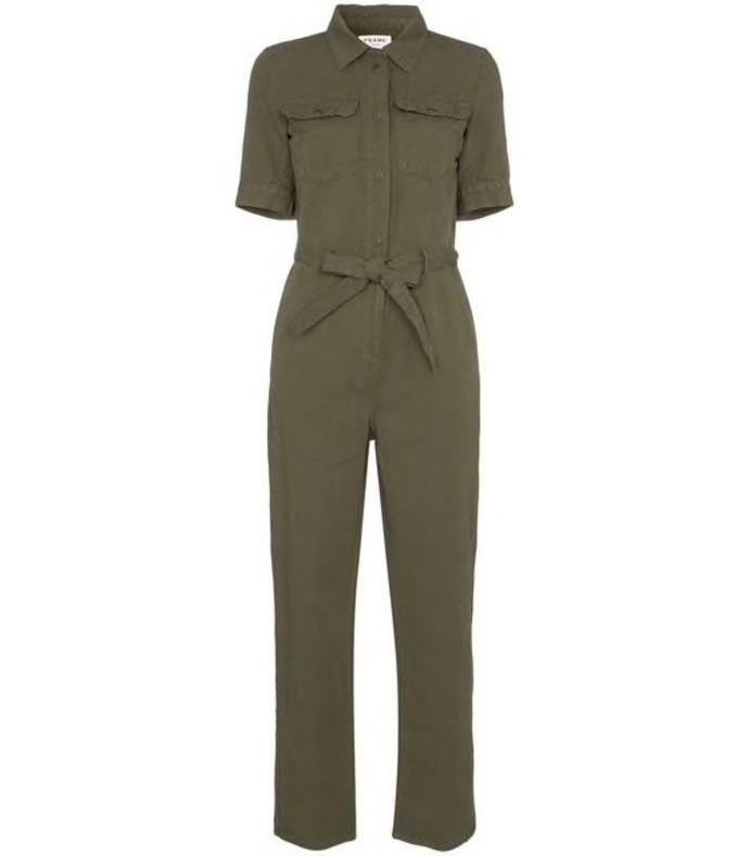 494c64f1a699 Frame Denim. Belted Front Button Jumpsuit