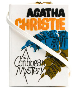 caribbean mistery strapped book clutch