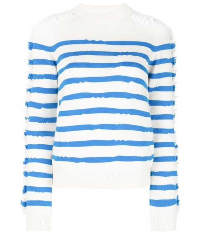crewneck striped pullover