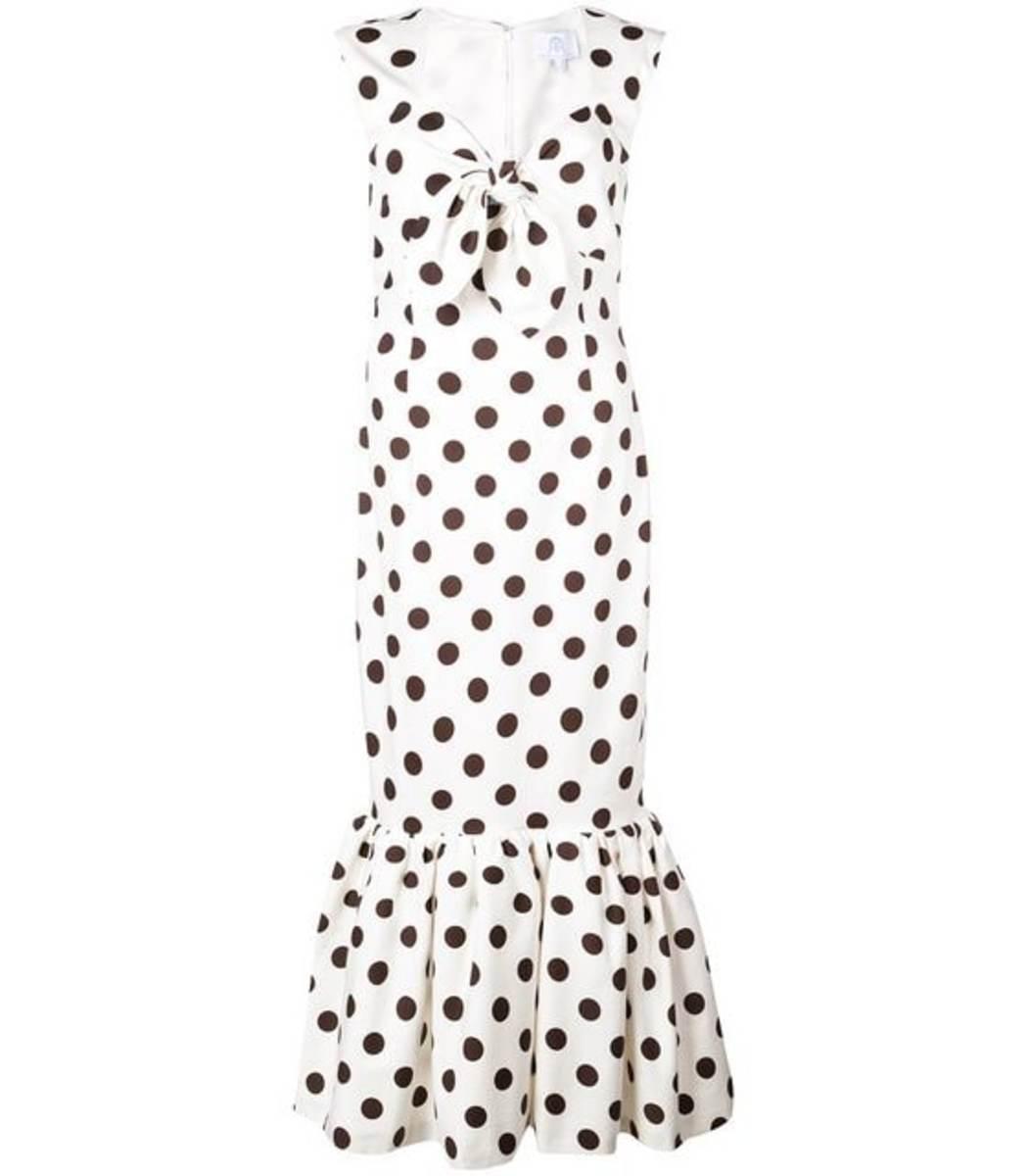 Rebecca De Ravenel Sleeveless Front Tie Tulip Hem Dress