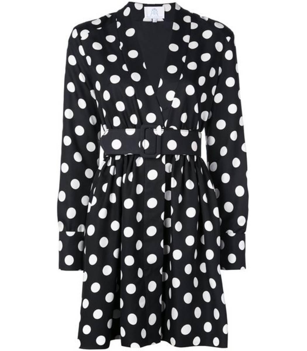 Rebecca De Ravenel Field Mini Polka Dot Dress