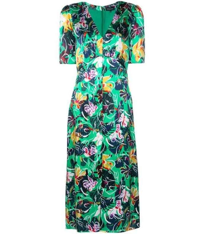 eden floral midi dress