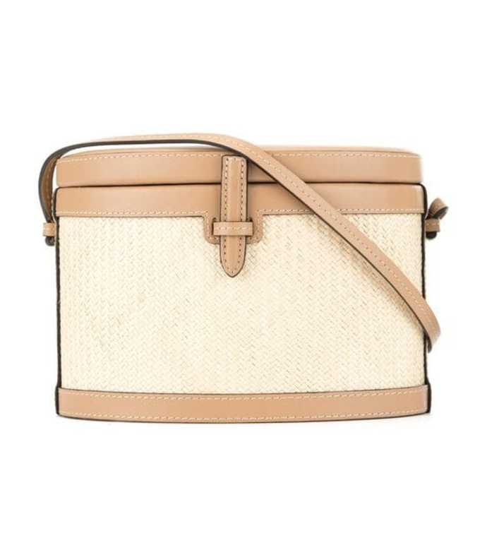 round trunk napa & platano shoulder bag
