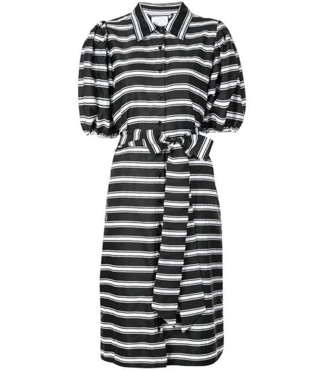 Lisa Marie Fernandez Stripe Midi Dress with Belt