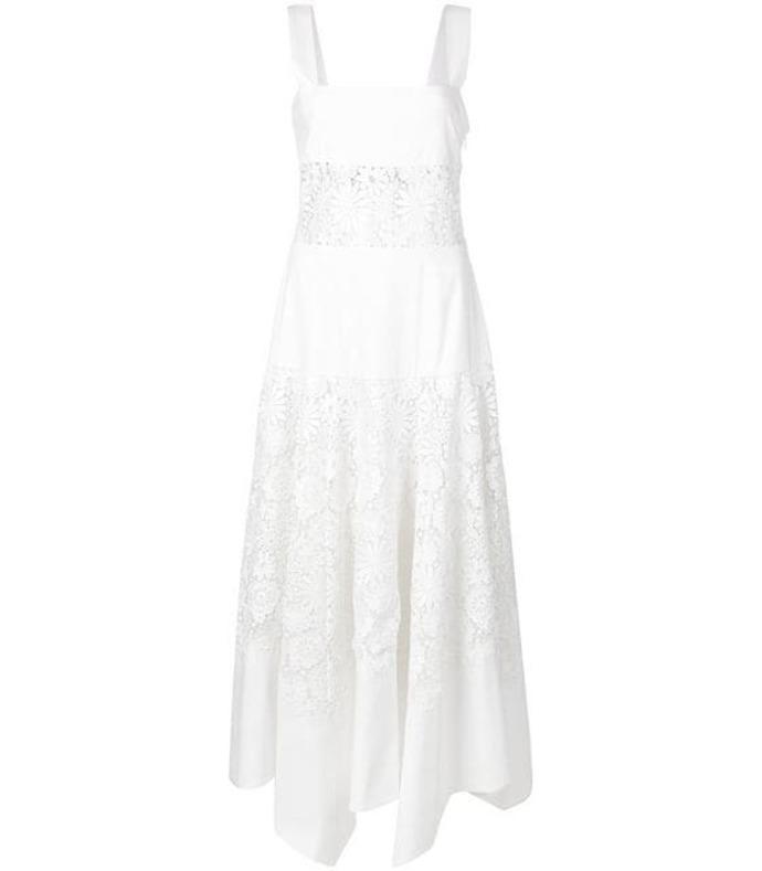a line lace floral dress