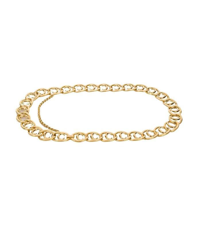 c logo chain belt