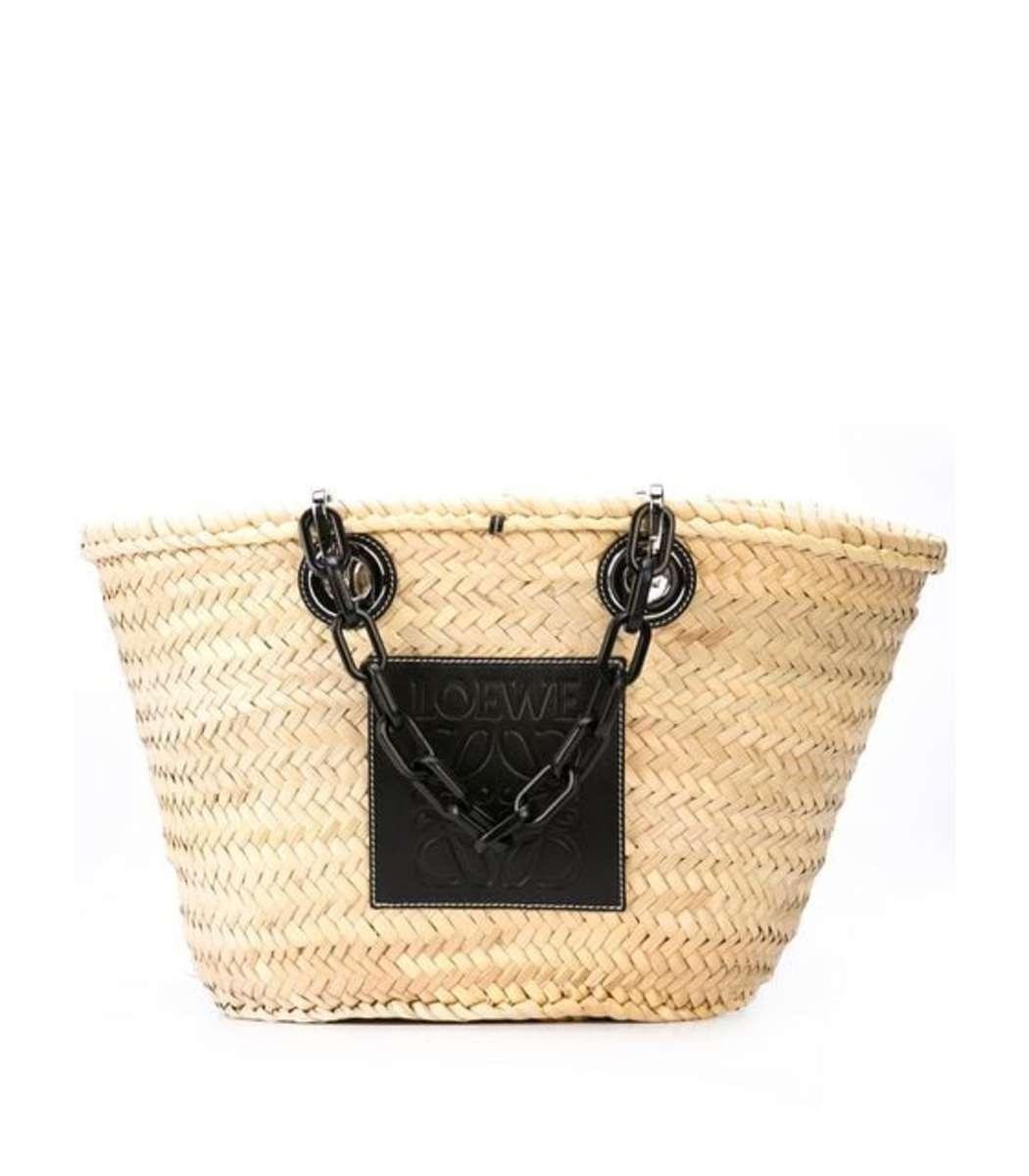 Loewe Totes Basket Chain Handle Tote Bag