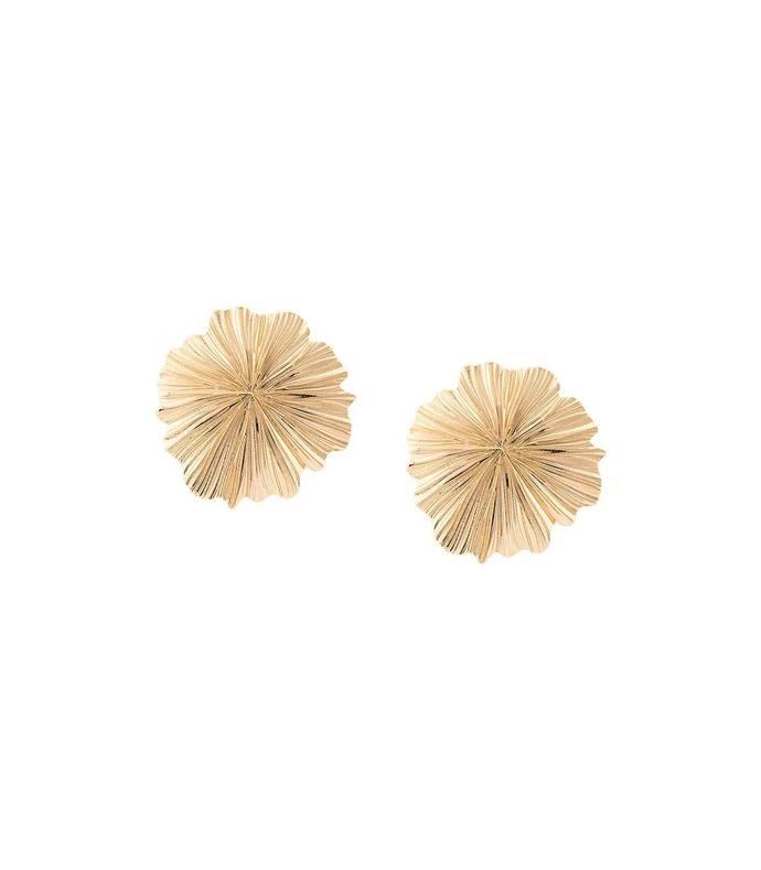 floral shape clip-on earrings