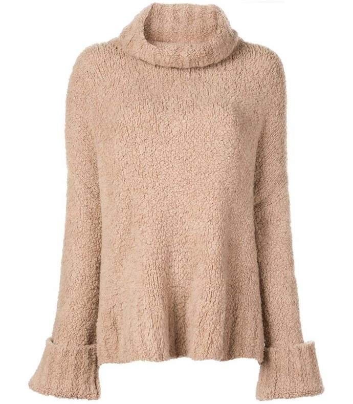 teddy merino cashmere turtleneck sweater