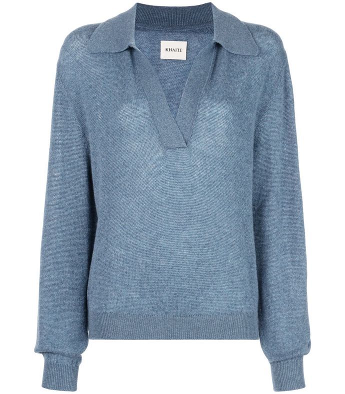 jo v neck collar cashmere sweater