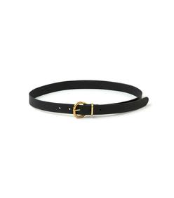thin estate belt in black